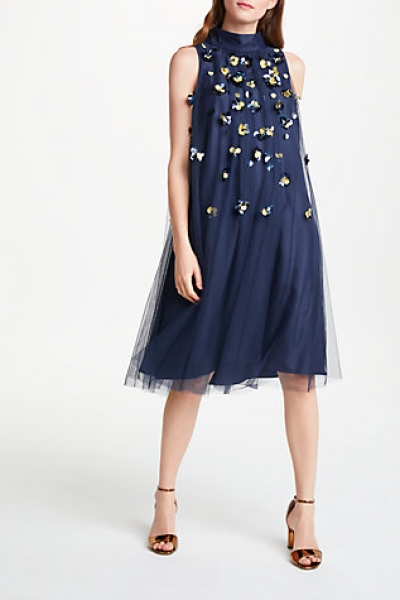 Bruce By Bruce Oldfield Embellished Pleat Dress