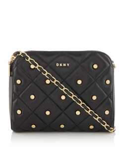 DKNY Barbara Quilted Stud Zip Cross Body Bag