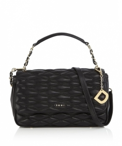 DKNY Lara Medium Flap Diamond Quilted Shoulder Bag