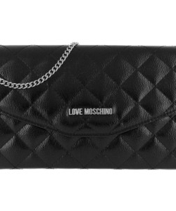 LOVE MOSCHINO Quilted Chain Logo Cross Body Bag