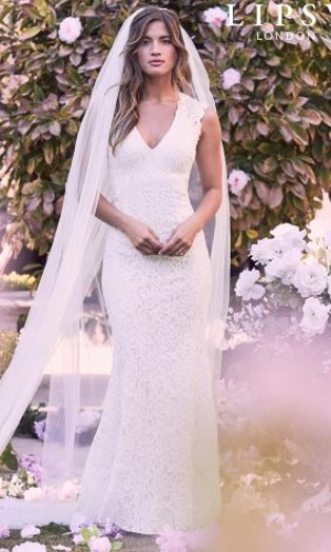 Lipsy Bridal Anabella All Over Lace Open Back Maxi Dress