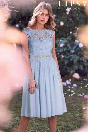 Lipsy Emilia Jewel Waist Midi Dress