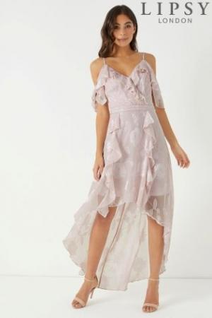 Lipsy Floral Burnout Maxi Dress