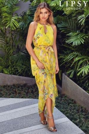 Lipsy Tiered Ruffle Maxi Dress