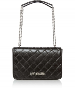 Love Moschino Reverse Quilted Flapover Shoulder Bag