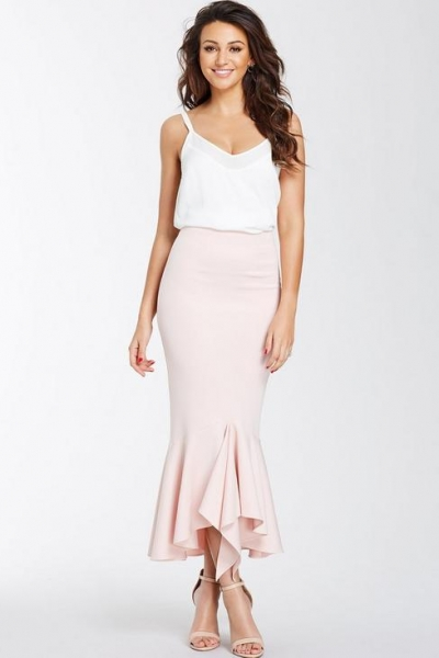 Michelle Keegan Ruffle Hem Skirt