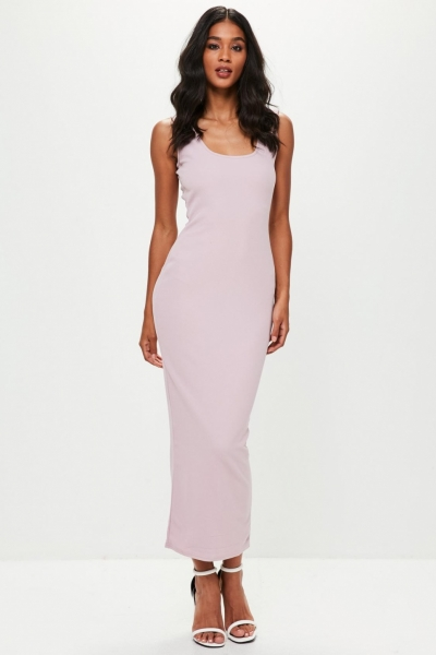 Missguided Lilac Ankle Grazer Maxi Dress