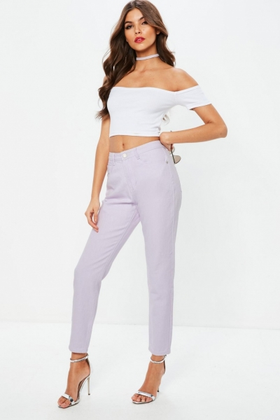 Missguided Lilachigh Rise Riot Denim Mom Jeans