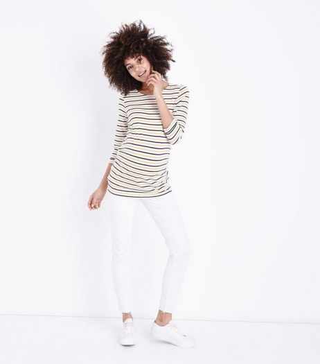 New Look Maternity White Over Bump Skinny Jeans