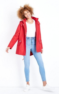 New Look Red Quilt Lined Anorak