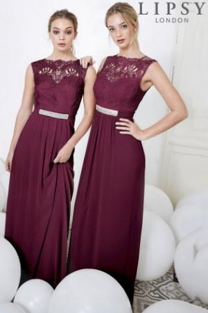 Purple Lipsy Jasmine Jewel Embellished Maxi Dress