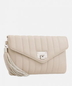 Quilted Shoulder Bag By Koko Couture Nude