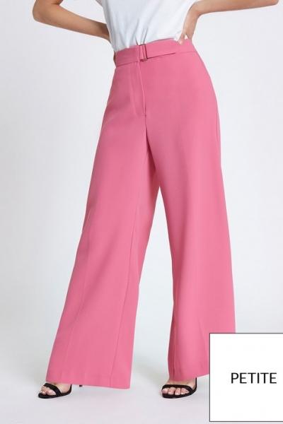 Ri Petite Tie Waist Tapered Trousers