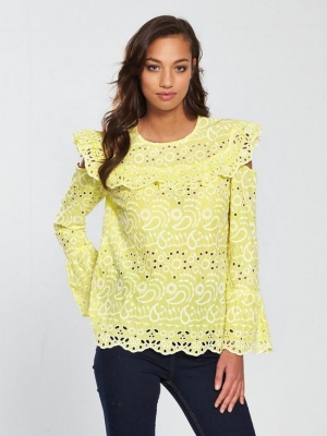 River Island Broderie Blouse