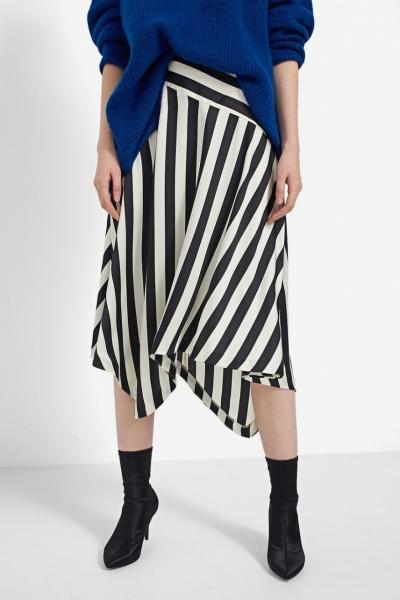 Stradivarius Striped Asymmetric Skirt