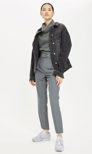 Topshop Belted Peg Trousers
