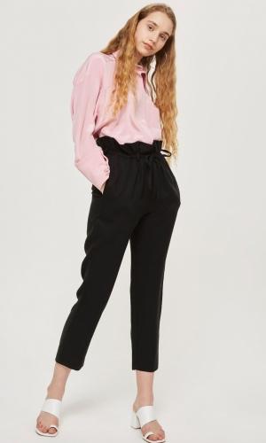 Topshop Paper Bag Tapered Hem Trousers