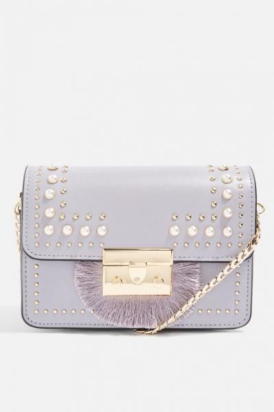 Topshop Rosie Pearl Fringe Cross Body Bag