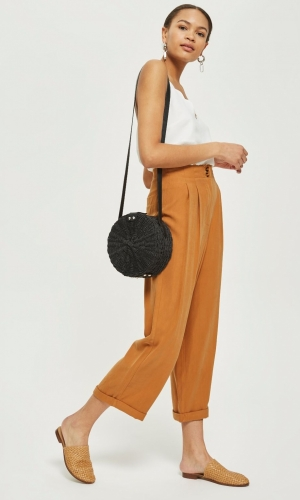 Topshop Tapered Utility Trousers