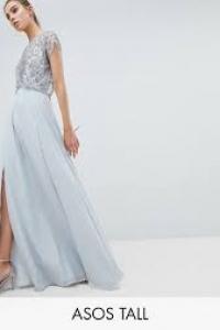 ASOS DESIGN Tall Bridesmaid Delicate Beaded Bodice Maxi Dress