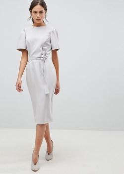 ASOS DESIGN Midi Pencil Dress With Belt