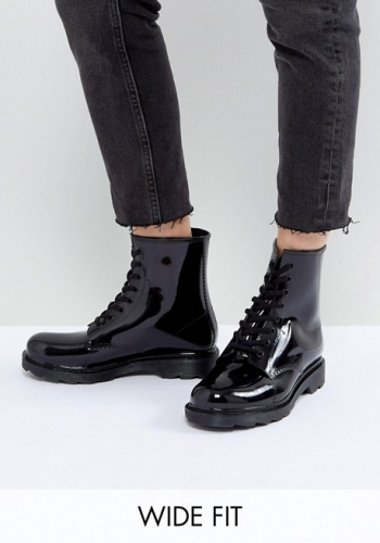 ASOS GLOBAL Wide Fit Lace Up Wellies