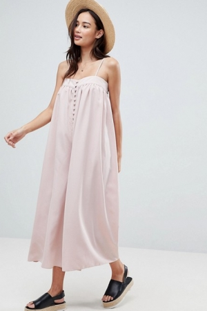ASOS Minimal Cami Jumpsuit With Button Detail