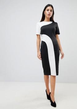 ASOS Mono Colour Block Midi T Shirt Dress
