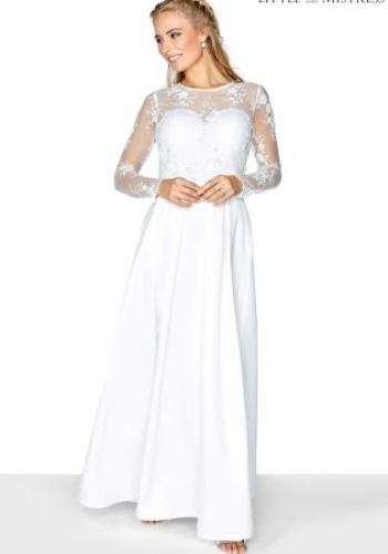 Little Mistress Mesh Bridal Maxi Dress