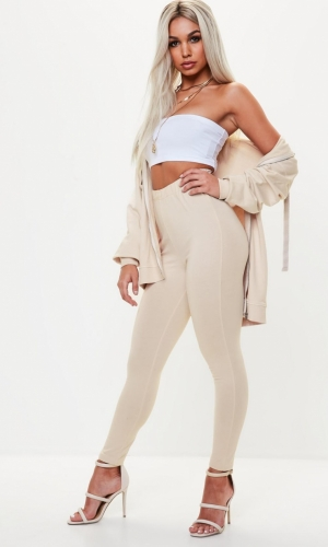 Missguided Nude Super Slim Leggings