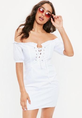Missguided White Milk Maid Dress