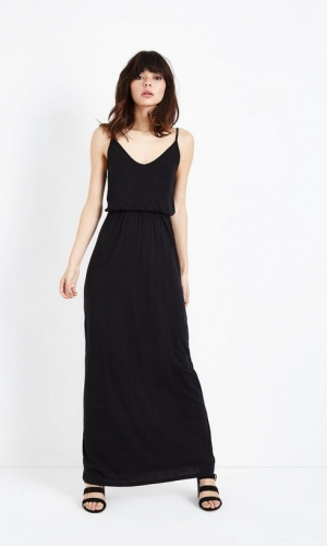 New Look Black Jersey V Neck Maxi Dress
