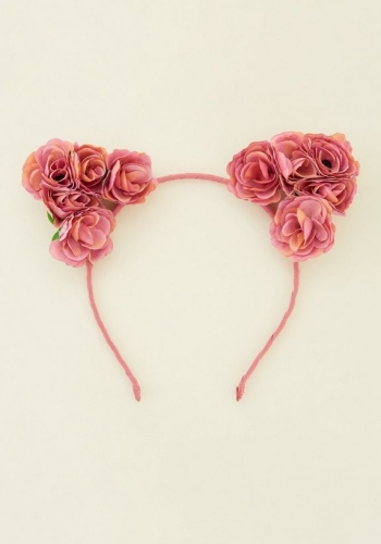 New Look Pink Roses Cat Ears