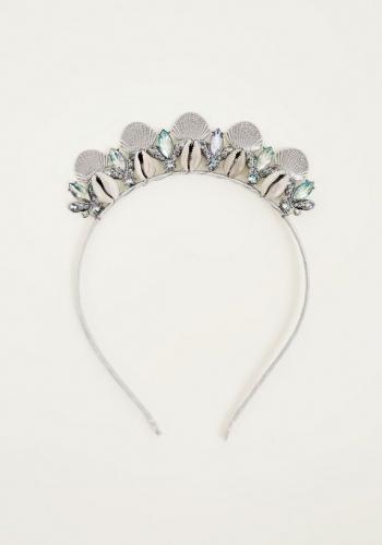 New Look White Mermaid Crown Headband