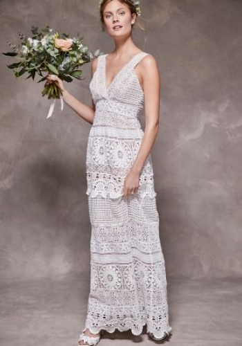 Next Ivory Crochet Lace Bridal Dress