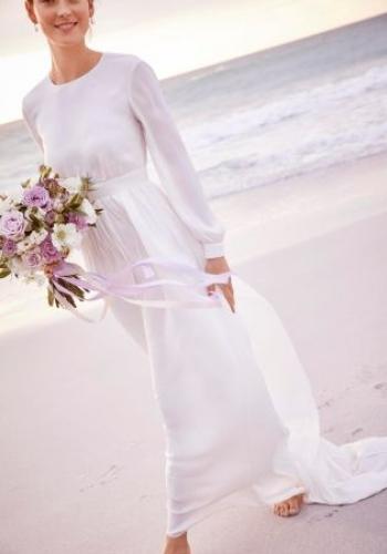 Next Ivory Satin Wedding Dress