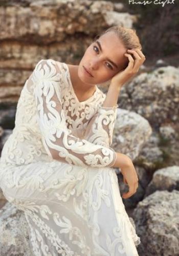 Phase Eight Ivory Aubrina Tapework Dress