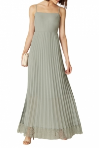 Phase Eight Sabrina Lace Pleated Maxi Dress