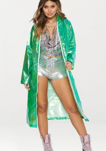 Pretty Little Thing Holographic Rain Jacket