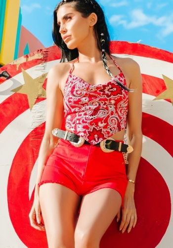 Pretty Little Thing Red Crop Top