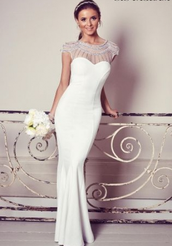 Sistaglam Beaded Fitted Bridal Dress