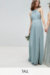 TFNC Tall Pleated Maxi Bridesmaid Dress