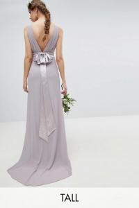 TFNC Tall Sateen Bow Back Bridesmaid Dress