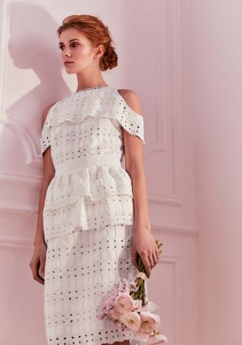 Ted Baker Cold Shoulder Lace Midi Dress