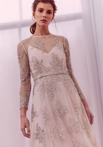 Ted Baker Embellished Overlay Midi Dress