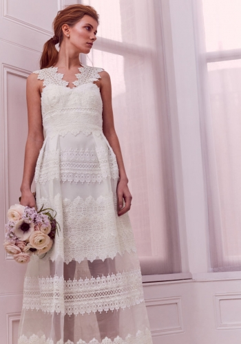 Ted Baker Layered Lace Maxi Dress