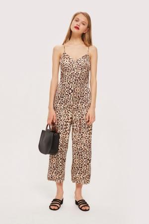Topshop Animal Print Jumpsuit