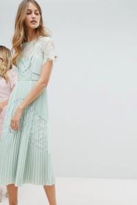 Whistles Exclusive Bridesmaids Lace Panel Midi Dress