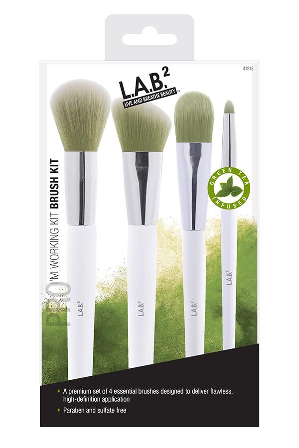 LAB 2 Green Tea Makeup Brushe Kit
