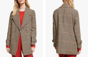 John Lewis Double Breasted Swing Pea Coat